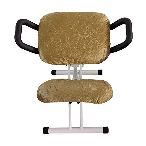 Dalovy Cómoda Silla de Oficina para Arrodillarse con Reposabrazos Silla Ergonómica para Arrodillarse Postura Ajustable en Altura Silla para Corregir de Rodillas Prevención de La Cifosis Miopía