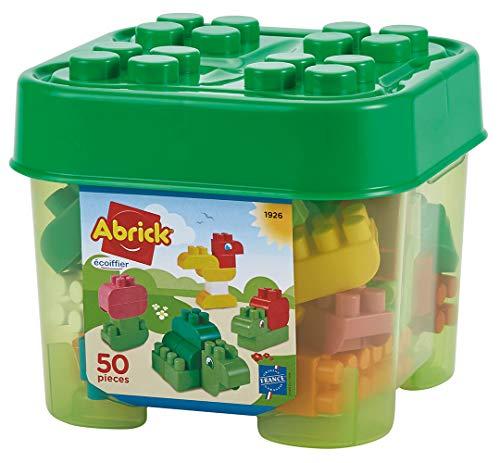 Jouets Ecoiffier -1926 - Boîte de briques à empiler Abrick – Jeu de construction pour enfants – 50 pièces – Dès 18 mois – Fabriqué en France