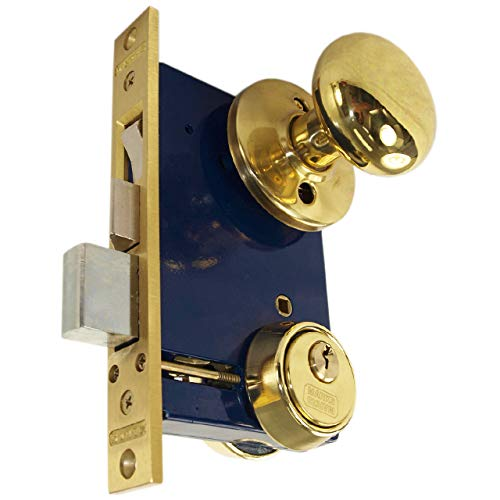 "Marks 22AC LHR Double Cylinder Iron Gate Ornamental Mortise Lock Set with 2-1/2"" Backset"