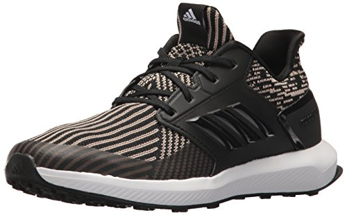 adidas Unisex-Kids Rapidarun Knit J Sneaker, Core Black, Core Black,White, 6 M US Big Kid