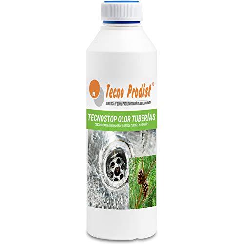 TECNO STOP OLOR TUBERIAS de Tecno Prodist (1 Litro) Neutralizador, desodorizante, eliminador de olores de tuberías, desagües y fosas sépticas, uso profesional y particular