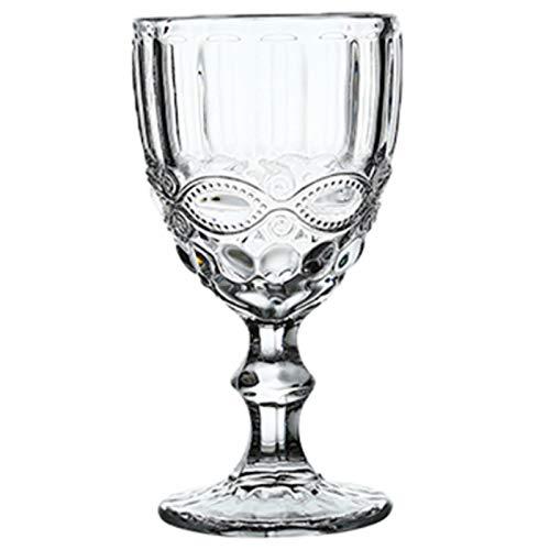 LMPENG Copa de vino retro retro copa de vino tinto 300ml talla jugo heráldico beber copa champán