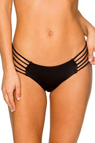 B Swim Midnight Bermuda Pant Bikini Bottom Swimsuit, Midnight, Small