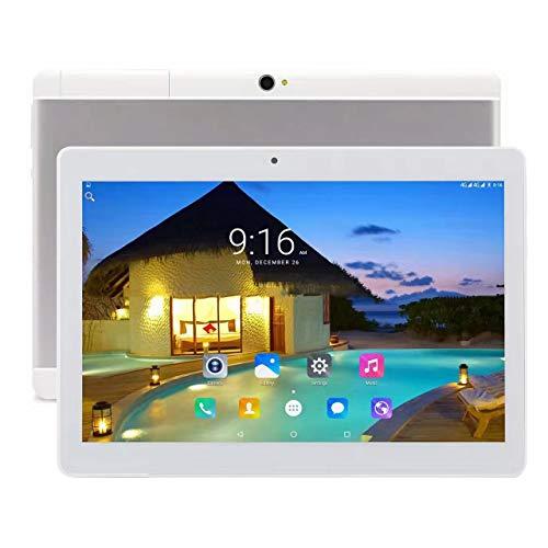 Tablet Android 8.1, Tablet da 10 pollici con processore quad-core da 64 GB con lo schermo IPS HD, Tablet famiglia con, GPS, FM, WiFi 5G, Corpo in Metallo (silver)