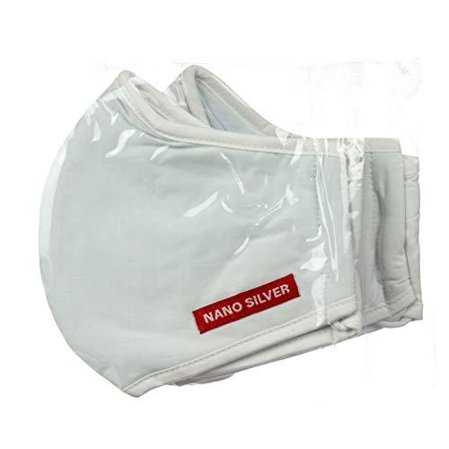 Ag+ Mund-Nasenschutz/Nanosilber Maske, bis zu 30x waschbar, 3-lagig (10)