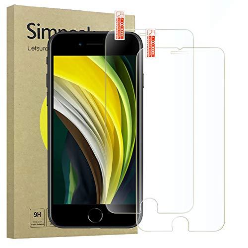 Simpeak 2-Packs Cristal Templado Compatible para iPhone SE 2020/7/8 [4,7 Pulgadas], Protector de Pantalla Premium Compatible con iPhone...