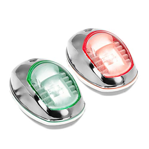 Five Oceans LED Boat Navigation Lights Stainless Steel Bow Set FO-2890-1