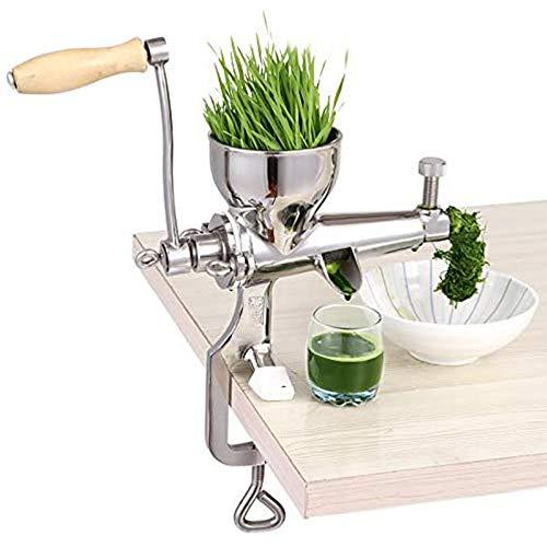 DQM Juicer Edelstahl Multifunktionale manuelle Schnecke Slow Juice Extractor Obst Gemüse Gemüse Zitronensaftmaschine Praktische und schnelle Squeeze Weizengras