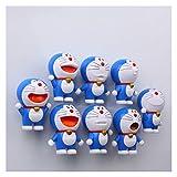 Imán de refrigerador Imán Frigorífico 8 Gran Creativo Dibujos animados lindo 3D Azul Fig Magas Etiquetas engomadas magnéticas Decoración del imán de la nevera (Color : 8 Big)