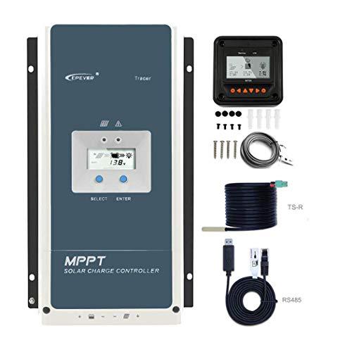 EPEVER 60amp MPPT Charge Controller 48V/36V/24V/12V Negative Ground Max 150V 4500W Input fit AGM/Gel/Flooded/User Backlight LCD Display Large-Amp(60A-MPPT)