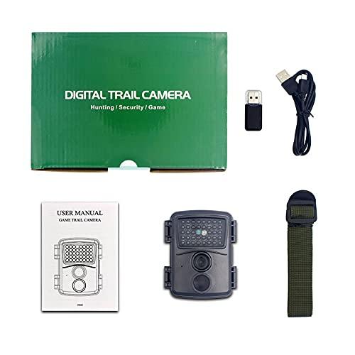 RHNE Cámara de Caza PR600 Trampa fotográfica 12MP Cámaras de Video de visión Nocturna de Sendero de Vida Salvaje para Juego de exploración de Caza al Aire Libre