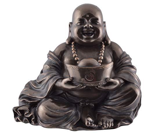 Veronese 708-7747 Lachender Glücks Buddha hält Schale Symbol für Gesundheit und Schönheit