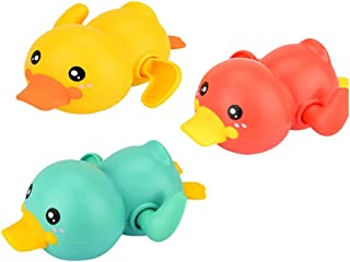 SOWUNO Bath Toy Wind up 3PCS Portable Lovely Animal Funny Cartoon Floating Toy Shower Toy for Kid Bathroom Children Gift B...