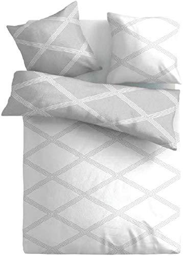 Soft Baumwolle Feinbiber Winter Bettwäsche 135x200 + 80x80 Kissenbezug Warm Biber