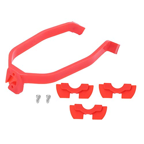 SANON Kit de Piezas de Repuesto para Scooter Soporte de Guardabarros con Amortiguador de Vibraciones de Goma Rojo para Scooter Eléctrico Xiaomi M365