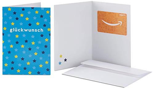 Amazon.de Geschenkkarte in Grußkarte (Glückwunsch Sterne)
