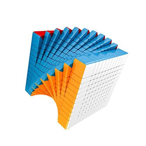 LEDM Speed Magic Cube Undécimo Orden sin Pegatinas Smooth Magic Cube Puzzle Rompecabezas Juguetes para niños y Adultos