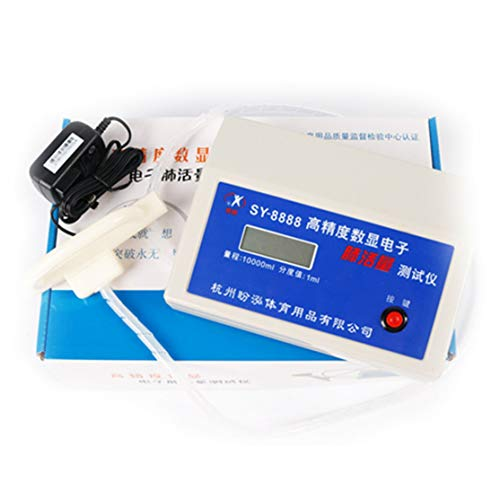Candyboom Automctic Digitales elektronisches Spirometer 4 Bits HD-LCD-Bildschirm Klinik oder Zuhause mit 20 Stück Einwegmundstück
