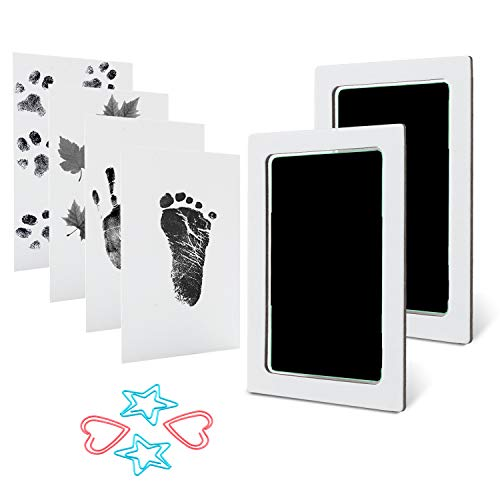 Baby Handprint Footprint Ink Pad Kits Pet Paw Print Ink Kits 2 Packs for Babies and Pets