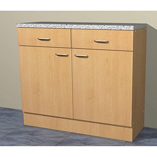 Küchenschrank Mehrzweckschrank in verschiedenen Breiten Start Melamin Buche/Buche (100cm breit)