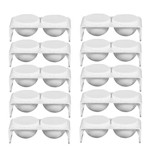 Lurrose plastic nagelkom met dubbele schaal 10 stuks dap borden met deksels