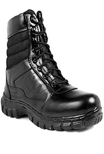Para commando Mens Black Genuine Leather Army Casual Shoes 10
