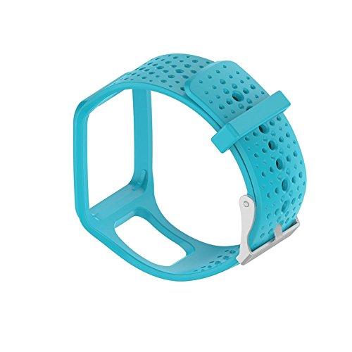 Dire-wolves Ricambio Fascia da Polso colorato Silicone Silicagel Morbido Wristband Watch Cintura per Tomtom Multi-Sport Cardio GPS Watch