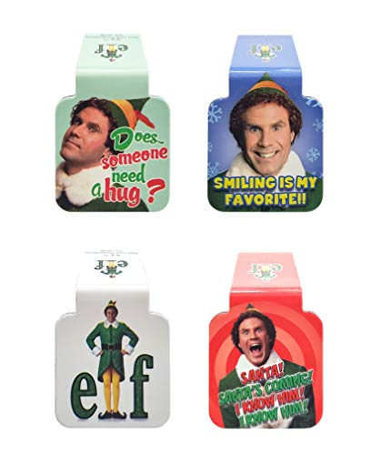 Ata-Boy Elf Movie - Set di 4 segnalibri magnetici da 2,5 cm