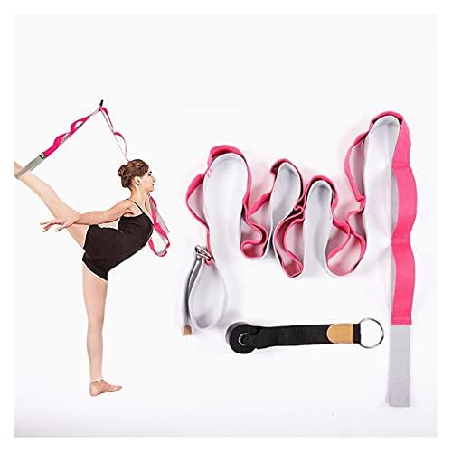 Augus Jacob Correa de Yoga aérea Ajustable Hamaca Swing Swing Estiramiento Anti-Gravedad Inversión Ejercicios Multilayer Belt Yoga Flexibilidad Trainer (Color : C Rose)