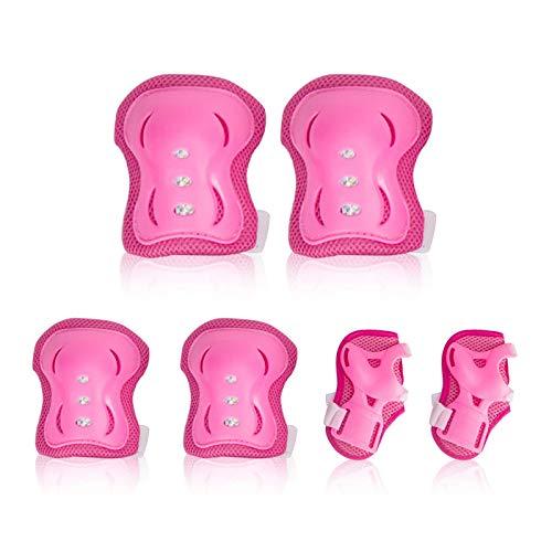 Conjunto de equipo de protección para niños LuLyL 6pcs Almohadillas de rodilla...