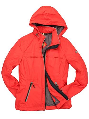 ROADSIGN Australia - Damen Outdoor Jacke mit Kapuze (9309S-3078), Größe:44, Farbe:Rot (61)