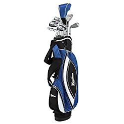powerful Trust Golf Men's Power V3 Lefty Hybrid Club Kit  Stand Bag