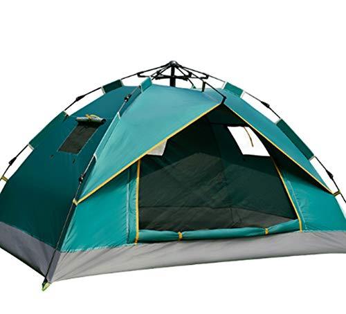 Oofay Regenschutz-TAPS Campingzelt im Freien, Doppel-Fenster automatisch, schnelles Öffnen der Zelte, dunkelgrün, 210 x 150 x 110 cm