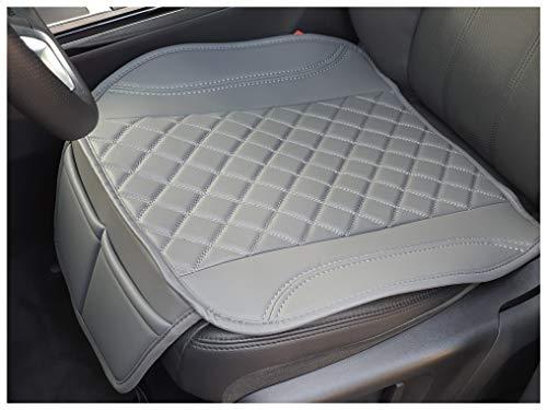 Sitzauflage Kunstleder Grau mit Grauen Nähten passend für Skoda Kamiq Sitzbezüge Auto Sitzauflage Sitzkissen OT409