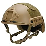LOOGU Tactical Helmet, Adjustable Fast MH Bump Protective Gear for Airsoft Paintball with 12-in-1 Face Mask