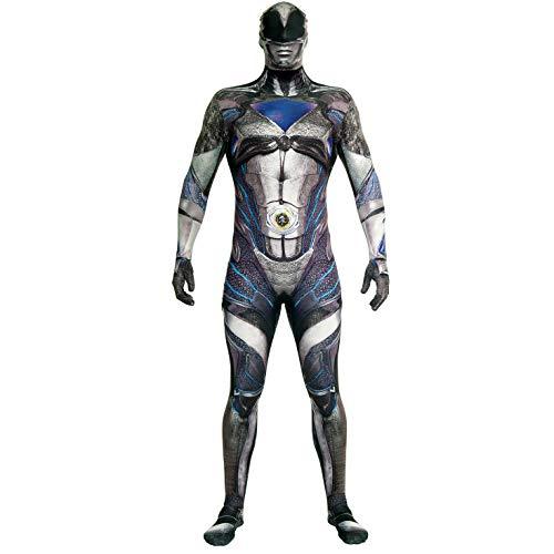 Morphsuits Disfraz de mlprmdbkx 176–185cm oficial negro Deluxe película disfraz de Power Ranger (XL)