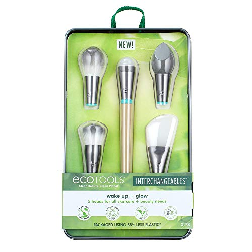 Product Image of the EcoTools Wake Up + Glow Interchangeables Makeup Brush Set with Case, With Beauty...