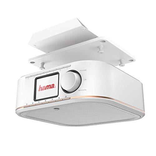 Hama Digitalradio für FM/DAB/DAB+ Empfang, DR350, unterbaufähig (Unterbau-Küchenradio, Farbdisplay, Weckfunktion, Netzbetrieb) Küche Unterbauradio, DAB-Radio, weiß/kupfer