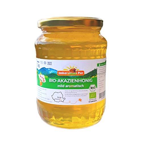 BIO Akazien-Honig von ImkerPur, 1 kg, mild-aromatisch, mit einer feinen Marzipan-Note