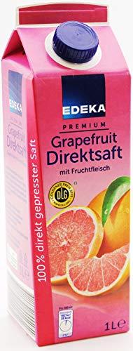 EDEKA Premium Grapefruit Direktsaft mit Fruchtfleisch, 8er Pack (8 x 1 l)