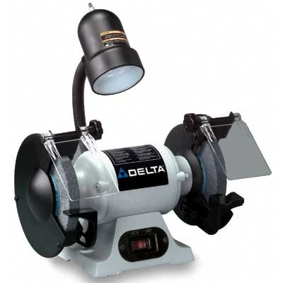 DELTA GR150 6-Inch Bench Grinder with Lamp