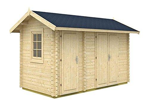 Tene Kaubandus Gartenhaus Karina 40 ISO Blockhaus Holzhaus 435 x 255 cm - 40 mm Ferienhaus