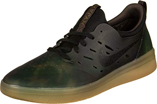 Nike SB Nyjah Free Premium Mens Fashion-Sneakers AO0805-900_8.5 - Multi-Color/Black-Gum Light Brown