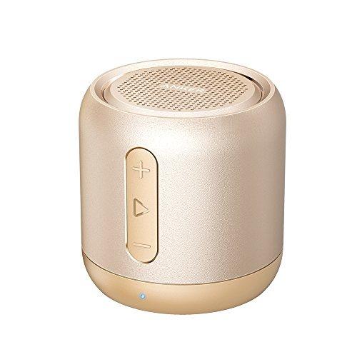 Anker Altoparlante Bluetooth Tascabile SoundCore Mini - Speaker Senza Fili Super-Portatile con Bassi Potenti, Tempo di Riproduzione di 15 Ore, Raggio di Connessione Bluettoth di 20 Metri, Radio FM, Microfono Incorporato e Guida Vocale per iPhone X/8/8 Plus, iPad, Samsung, Huawei, Honor, Nexus, Laptop e Altri