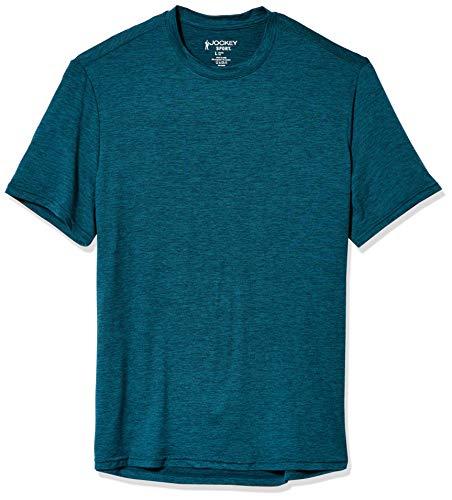 Jockey Men's Classic Short Sleeve Space Dye T-Shirt, Reflecting Pond, Large