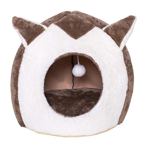 PIG-GIRL Pet Beds,Cozy Pet Bed,Warm Cave Nest Sleeping Bed House for Cats and Small Dogs Removable Wash by Best Pet Supplies,M