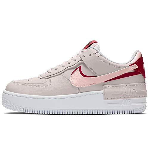 Nike Air Force 1 Shadow Schuhe für Damen Phantom/Echo PINK-Gym RED (42 EU)