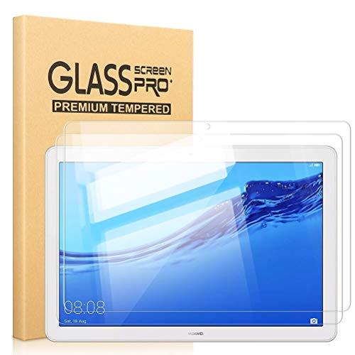 Pnakqil [2 Piezas Protector de Pantalla para Huawei Mediapad T5 10.1 Protector de Cristal Vidrio Templado Premium Transparencia HD [Anti-arañazos] [No Burbujas] para Huawei Mediapad T5 10.1 Pulgadas