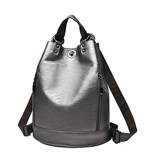 LOVE LABINI Zaino antifurto da donna in poliuretano impermeabile zaino casual da viaggio adolescenti spalla borsa (Bronzo)