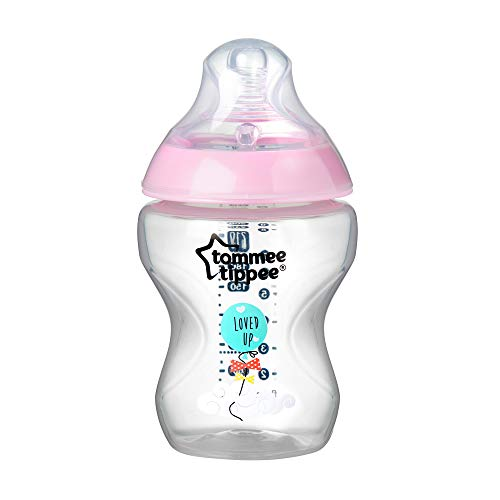 Tommee Tippee Biberón Closer to Nature, 260 ml, rosa, 1 Unidad, Rosa